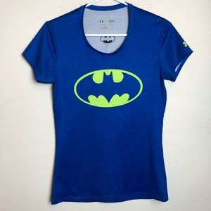 Under Armour Size S Fitted Batman Short Sleeve Top